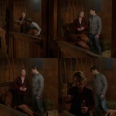 Amy: You know what, Ty? You can go back upstairs and I'll spend some time trying with him. Ty: Oh no, no, no I'll stay up. I'm used to working night shifts at the clinic. Amy: You sure? Ty: Besides we're in this together. Amy: Okay. (10x02)