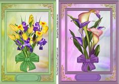 Two Beautiful Floral flowers toppers  on Craftsuprint - Add To Basket!