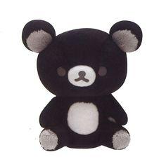 Brand-new! Rilakkuma Monochrome Black Plush Doll Stuffed San-X Japan F/S #SanX