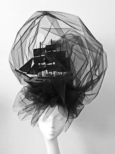Marie Antoinette Black Ghost Ship Headdress