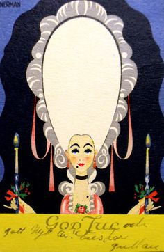 Would make a great invitation or party sign for something -- greeting card,  Einar Nerman, 1921