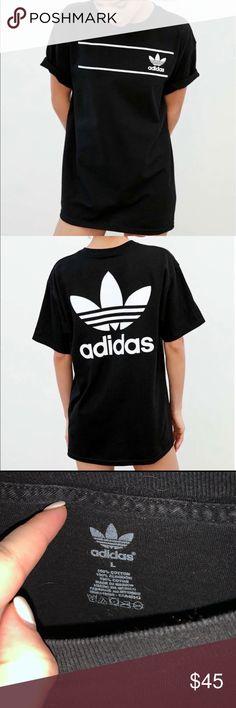 adidas Originals New Men/'s T-Shirt Black M Graphic White Short Sleeve BNWT