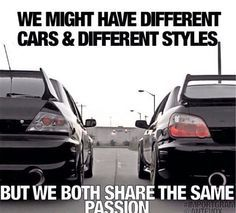 Mitsubishi & Subaru sharing the same passion
