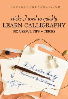 "Like most skills, calligraphy isn't something that you'll pick up overnight. Still: you can learn calligraphy in an efficient and enjoyable way! In this article, you'll find six ""tricks"" that I used to accelerate my own calligraphy learning process. Easy Hobbies, Hobbies To Try, Hobbies For Women, Hobbies That Make Money, New Hobbies, Unusual Hobbies, Fake Calligraphy, Calligraphy Handwriting, Penmanship"