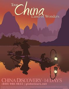 """The latest of the travel poster I'm desingning for a client in Los Angeles, this one is """"tour china, land of wonders"""" :D    I think its my favorite thus far."""