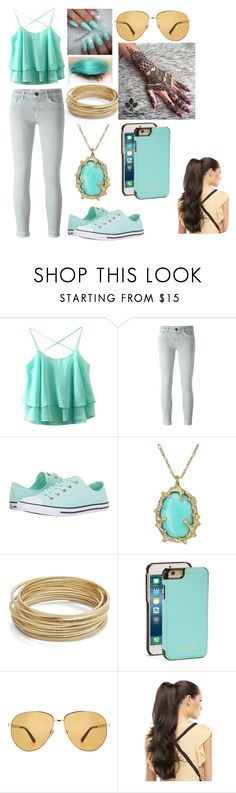"""""""Modern Day Jasmine"""" by kiara-fleming ❤ liked on Polyvore featuring Current/Elliott, Converse, Lilly Pulitzer, Design Lab, Kate Spade, Lime Crime, Gucci and modern"""