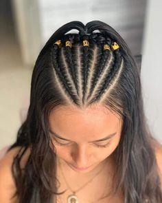 Cool Braid Hairstyles, Baddie Hairstyles, Teen Hairstyles, Casual Hairstyles, Short Wavy Hair, Braids For Long Hair, Medium Hair Styles, Curly Hair Styles, Natural Hair Styles