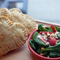 Heart Spinach Calzones from @SuperHealthyKids