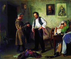 МАКОВСКИЙ ВЛАДИМИР ЕГОРОВИЧ (1846-1920).Художник, продающий старые вещи татарину. 1865