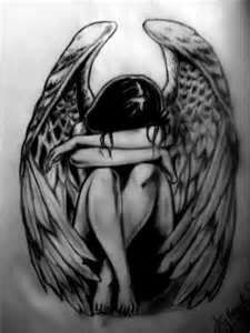 Crying Angel Tattoo <--- saw this and said to myself 'weeping angel. Don't blink. Don't even blink.'