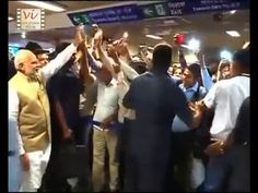 Prime Minister Narendra Modi took a ride on Delhi metro with his Australian counterpart Malcolm Turnbull. Delhi Metro, Trending Videos, Films, Take That, Style, Movies, Swag, Cinema, Movie
