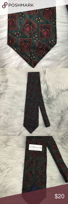 Vintage Disney Store Silk Neck Tie Vintage, 100% silk, Mickey Mouse print, good condition The Disney Store Accessories Ties