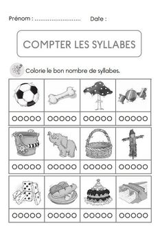 Counting syllables in French. Read In French, Learn French, French Teacher, Teaching French, Early Learning, Kids Learning, Maternelle Grande Section, Future Jobs, Phonological Awareness