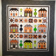 I have a finish on my Haunted Farmhouse Lane Quilt Pattern is from the book Farm Girl Vintage by Lori Holt @beelori1 of Bee In My Bonnet. I chose to make mine out of Halloween fabrics  One of the things I love about Lori's patterns is that they can be made from scraps. This entire quilt, except for the outer border was pulled from my scrap bins. If you look closely you will see even my backgrounds are scrappy. #hauntedfarmhouselanequilt #farmhouselane #farmgirlvintage #loriholt #bee...