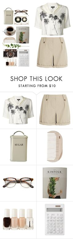 """""""the coffee date //"""" by iamcelinenguyen ❤ liked on Polyvore featuring rag & bone, Burberry, Garden Trading, HAY, CASSETTE, Essie and Muji"""
