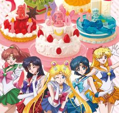 Sailor Moon birthday cakes come with chocolate Senshi, are fun for kids from 1 to987,654,322,110