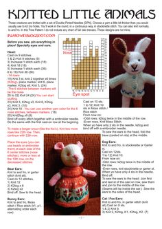 Page 1 of 4 Knitted Doll Patterns, Animal Knitting Patterns, Knitted Dolls, Stuffed Animal Patterns, Crochet Toys, Simply Knitting, Little Cotton Rabbits, Fabric Animals, Knitted Animals