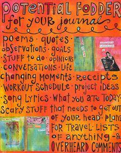 artsyville: journaling ideas