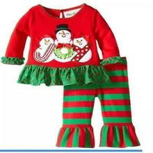 e9e26826893 New Baby girls Christmas Clothing set Long-Sleeve infant Clothes Suit Kids  Good Quality snowman