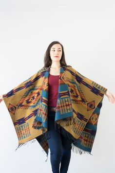 Hey, I found this really awesome Etsy listing at https://www.etsy.com/listing/255041164/blue-wool-poncho-mustard-poncho