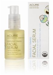 Seriously Firming Facial Serum by Acure. Certified Organic Argan Oil restores moisture to the skin's lipid layer. Borage Oil soothes inflammation and Cranberry works to neutralize free radicals for firmer, glowing, skin. Acure - acureorganics.com