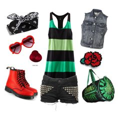"""A red, red rose."" by velvetvolcano on Polyvore"