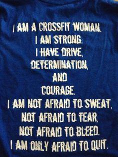 I am truly a crossfit women
