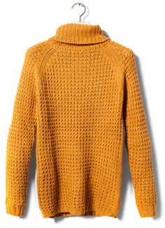 Golden yellow chunky knit