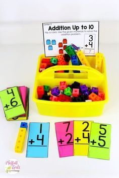 Addition Up to 10. Plus, MORE hands-on addition math centers for Kindergarten! Teach basic addition in a variety of ways that help students build math skills.