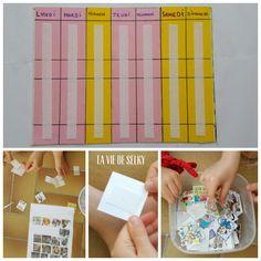 Selky fabrique du calendrier pour ton enfant. Voilà le tutoriel (DIIY)(pas à pas). Facile, rapide, pas cher et pratique pour le repère temporel de l'enfant.