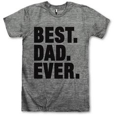 Best Dad Ever. ($28) ❤ liked on Polyvore featuring tops, t-shirts, black, women's clothing, loose fit t shirts, draped t shirt, drapey tee, loose shirts and vintage tees