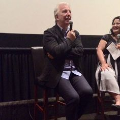 """by Carlotta Barnes @carlotta429 Jan 16  """"Alan Rickman at the last #alittlechaos event June 2015. Thanked him but never said goodbye. Never WILL say goodbye""""."""
