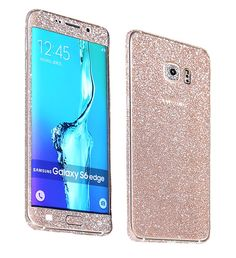 Amazon.com: Just Mode(TM)Glittering Style Full Body Bling Glitter Film Sticker Case Cover Protector for Samsung Galaxy S6 Edge-Champagne Gold: Electronics