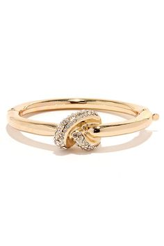 Knotty Habit Gold Knot Bracelet at Lulus.com!