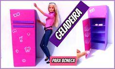 como fazer GELADEIRA pra bonecas.Barbie