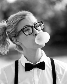 geek, hipster, bubble gum, beauty, fashion, photography, glasses
