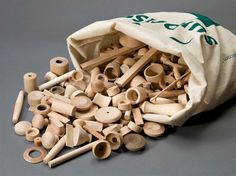 surprise bag of wooden pieces