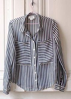 À vendre sur #vintedfrance ! http://www.vinted.fr/mode-femmes/blouses-and-chemises/27214016-monki-chemise-rayee-et-semi-transparent