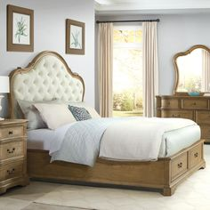 A blend of distinguished style and storage options makes the Riverside Furniture Verona Upholstered Storage Bed the right bed for you. This bed is crafted. Bedroom Furniture For Sale, Parks Furniture, Value City Furniture, Online Furniture Stores, Bed Furniture, Bedroom Decor, Bedroom Ideas, Bed Storage, Bedroom Storage