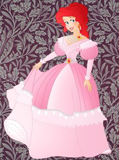 A new historic princess, Ariel in her pink dress I choose to place her in denmark The others: Cinderella: Blue dress: Historic Ariel Disney Fan Art, Disney Style, Disney Love, Disney Artwork, Disney Magic, Non Disney Princesses, Alternative Disney Princesses, Disneyland Princess, Disney Princess Dresses