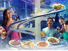 """W parku Wiener Prater niebawem otworzy się nowa restauracja """"Rollercoaster"""". Nic dziwnego by w tym nie było, gdyby nie dania dostarczane na stół na szynach oraz roboty miksujące drinki."""