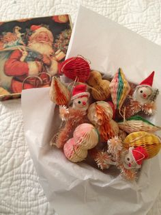 Vintage Christmas Decorations  1940s Xmas by pinkneonvintage, $12.00
