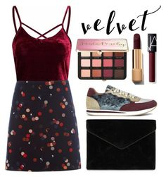"""""""Velvet"""" by trendsetter12 ❤ liked on Polyvore featuring White Stuff, Rebecca Minkoff, Sephora Collection and NARS Cosmetics"""