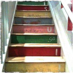 Multi-Coloured Stairs by fotoflippr, via Flickr