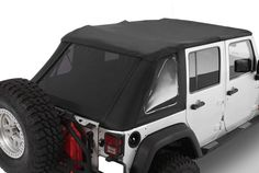 2007-2016 Jeep Wrangler Unlimited Frameless Bowless Soft Top Kit