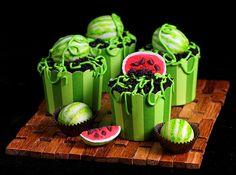 Watermelon Cake Ball Cupcakes by IrishMomLuvs2Bake, via Flickr