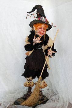 Agatha Flodderbes, OOAK sculpt by Sherrie Neilson. Art Dolls, Samurai, Sculpting, Sculpture, Sculptures, Samurai Warrior