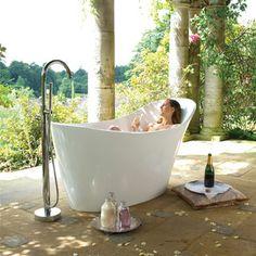 Victoria + Albert Amalfi freestanding bathtub.