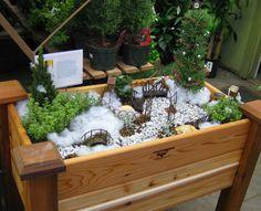 Winter Fairy Garden, sooo creative!!!!