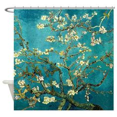 Van Gogh Almond Blossoms Tree Shower Curtain on CafePress.com